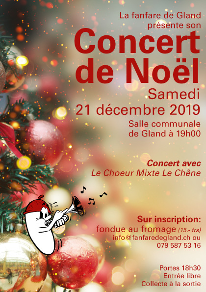 Affiche concert Noël 2020