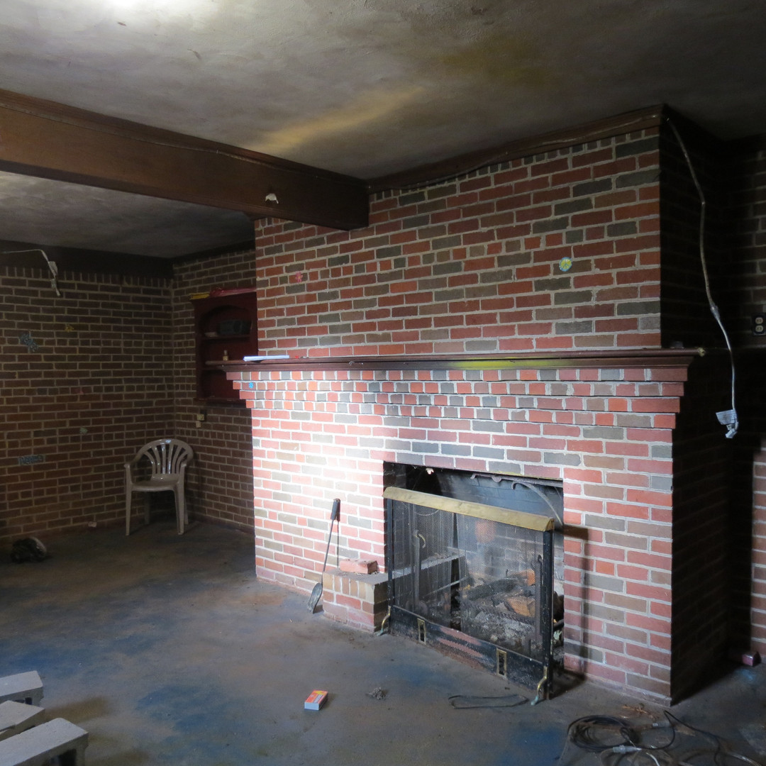 Basement Fireplace - Before