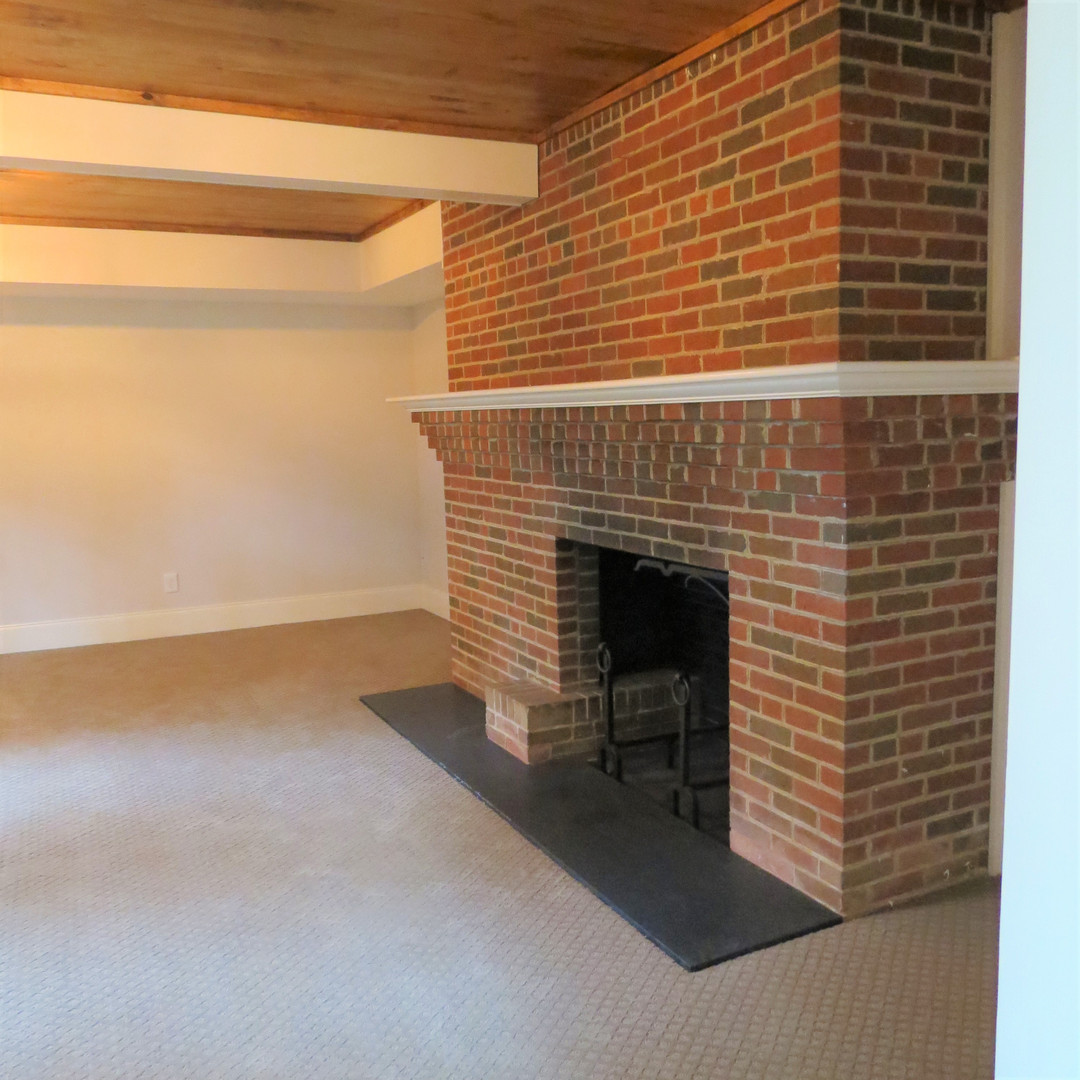 Basement Fireplace - After