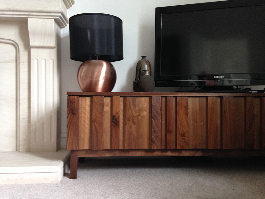 'strip' low storage unit (walnut)