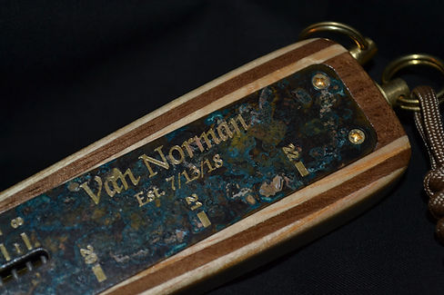 Custom inscription on brass