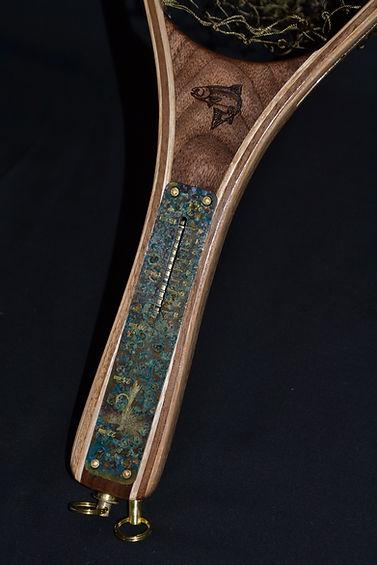 Handle Detail Custom Wood Fishing Net