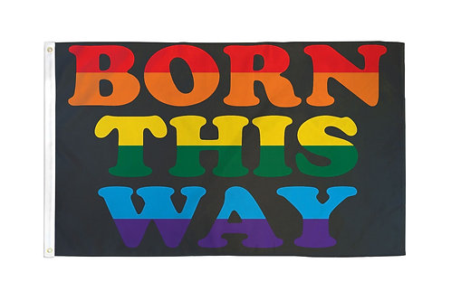 Born This Way Flag 3x5ft Poly