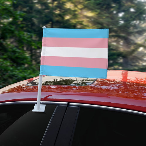 Transgender Car Flag (18x12in)