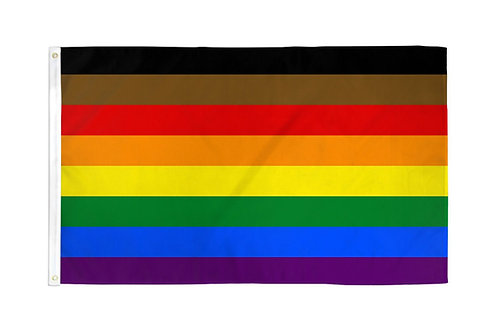 Philly Rainbow Flag 3x5ft Poly