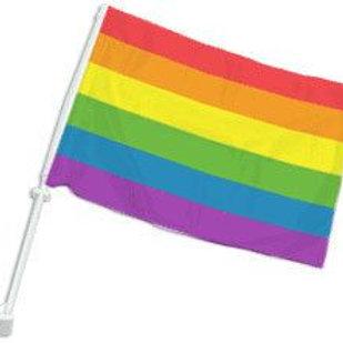 Rainbow Car Flag (18x12in)