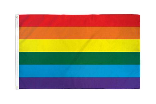 Rainbow Waterproof Flag 3x5ft Poly