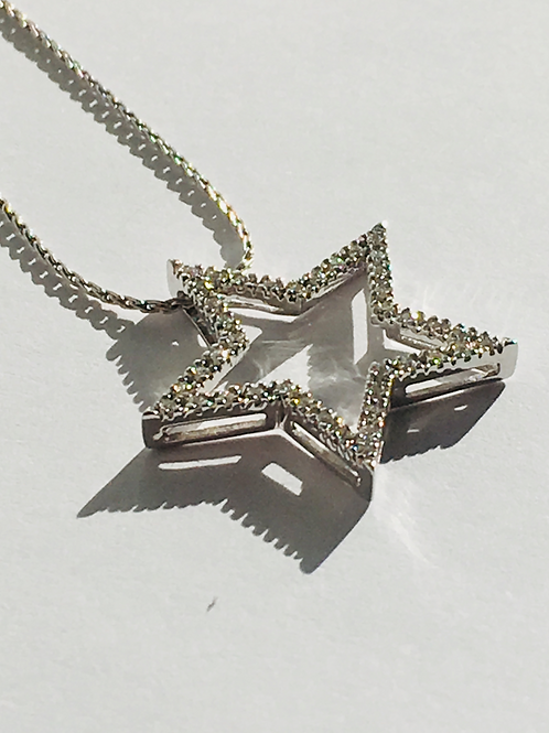 Diamond Star Pendant & Chain