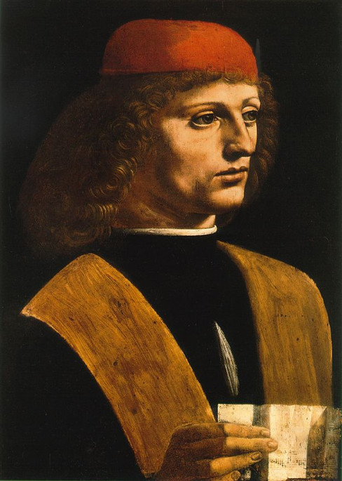 "Fig. 32. Leonardo, ""Musician"", c.1485-1490."