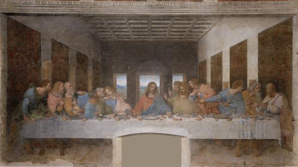 "Fig. 44. Leonardo, ""The Last Supper"", c.1595-8."