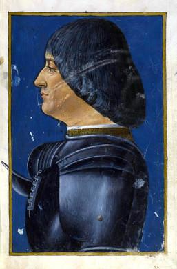 """Fig. 25. Ambrogio de Predis, """"Portrait of Ludovico Sforza"""", late 1400s."""