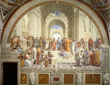 "Fig. 63. Raphael da Urbino, ""School of Athens"", c.1511."