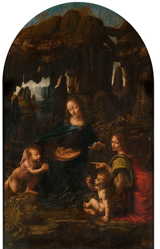 "Fig. 1. Leonardo, ""The Virgin of the Rocks"", c.1484-5, Louvre, Paris."