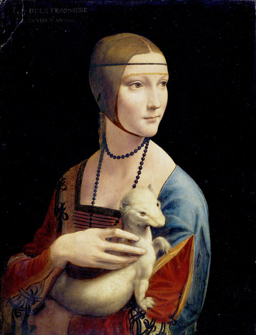 "Fig. 33. Leonardo, ""Lady with an Ermine"", c.1489-90."