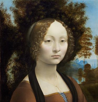 """Fig. 20. Leonardo, """"Portrait of Ginevra de' Benci"""", c.1474-8."""