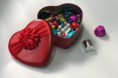 Belgian Chocolates in Heart Shaped Tin Box- s( Valentine's day special )  - 6 pc