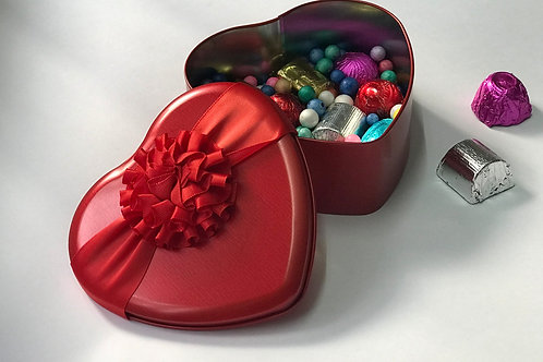 Belgian Chocolates in Heart Shaped Tin Box-L ( Valentine's day special )  - 8 pc