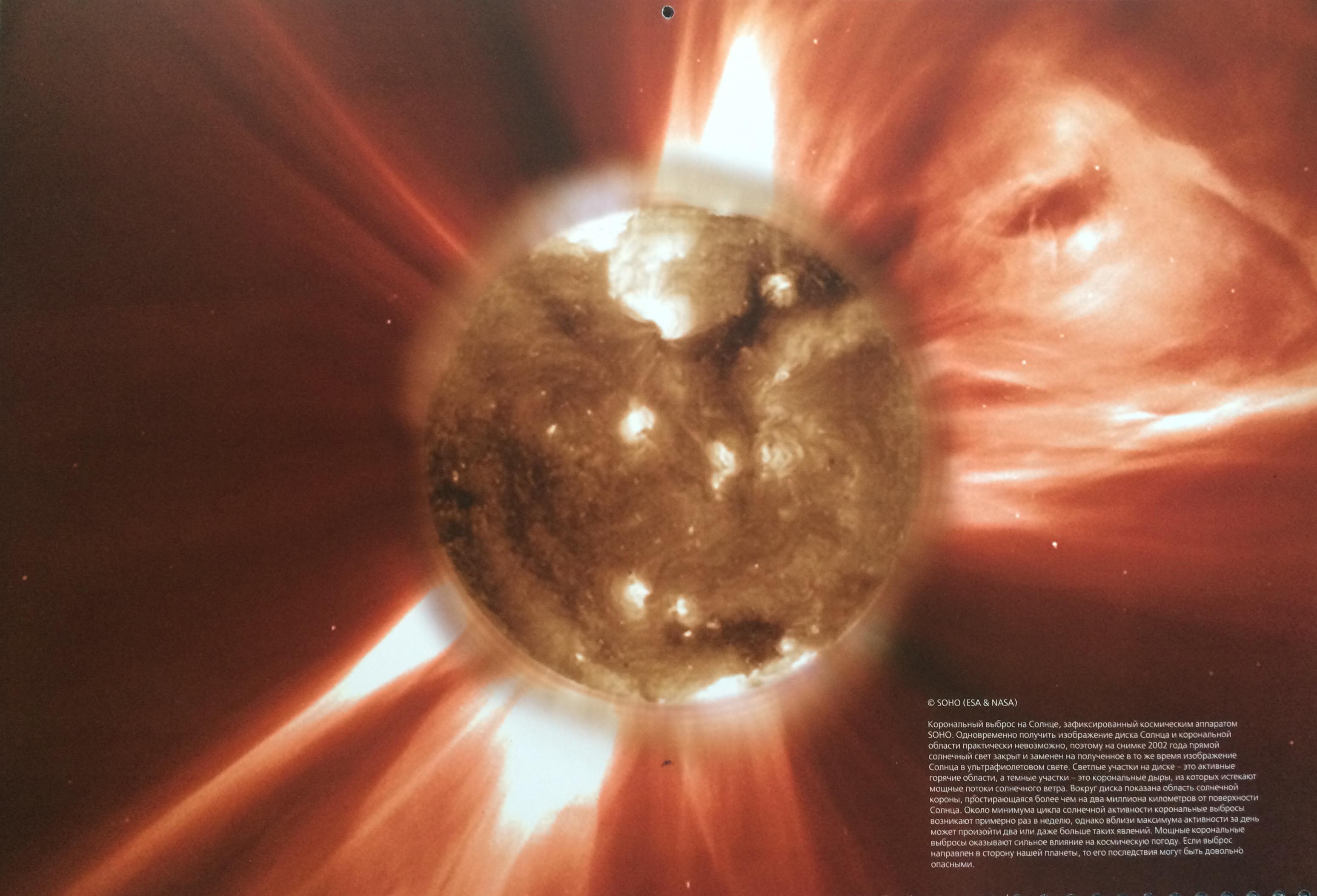 Корональный выброс на Солнце