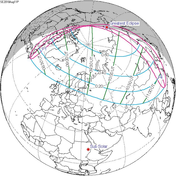 Солнечное затмение 11.08.18