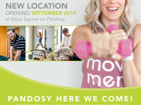 NeuMovement Pilates and Physiotherapy Pandosy Location Opening September 3rd!