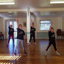 Acrobatic dance class for children