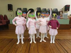 Superheros in ballet class