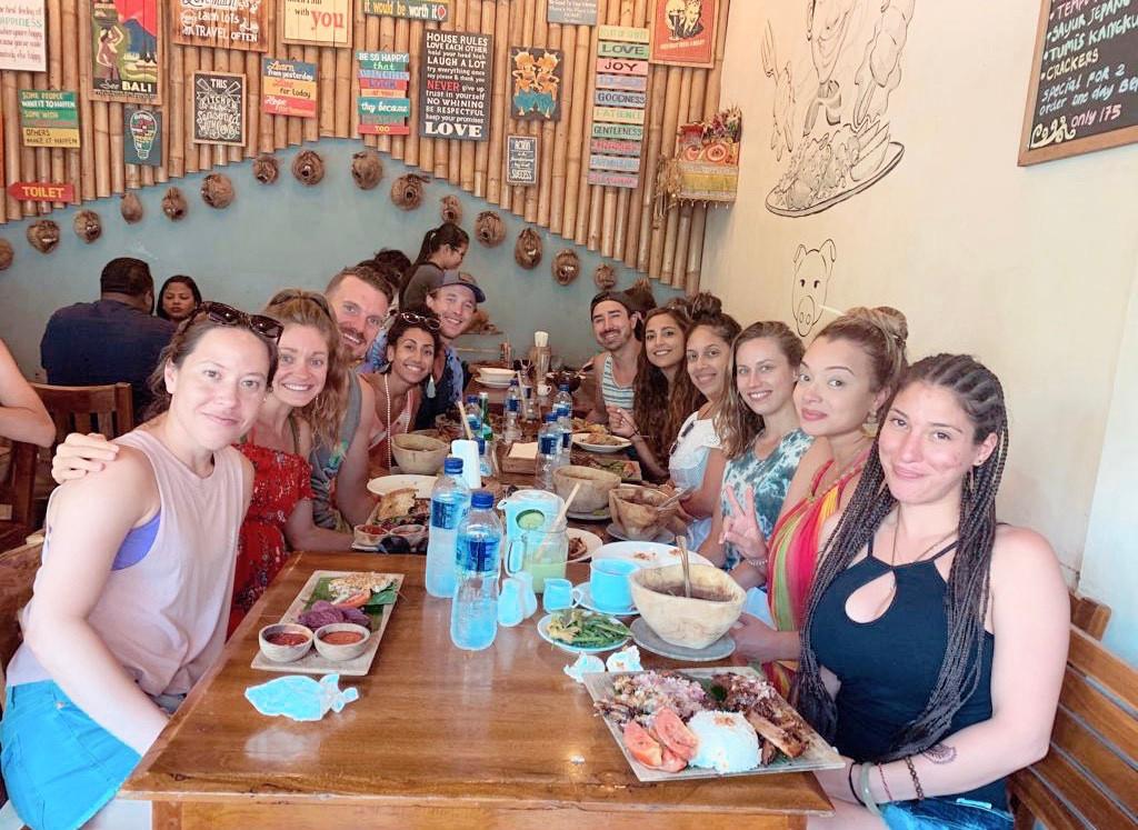 Exploring restaurants in Ubud, Bali