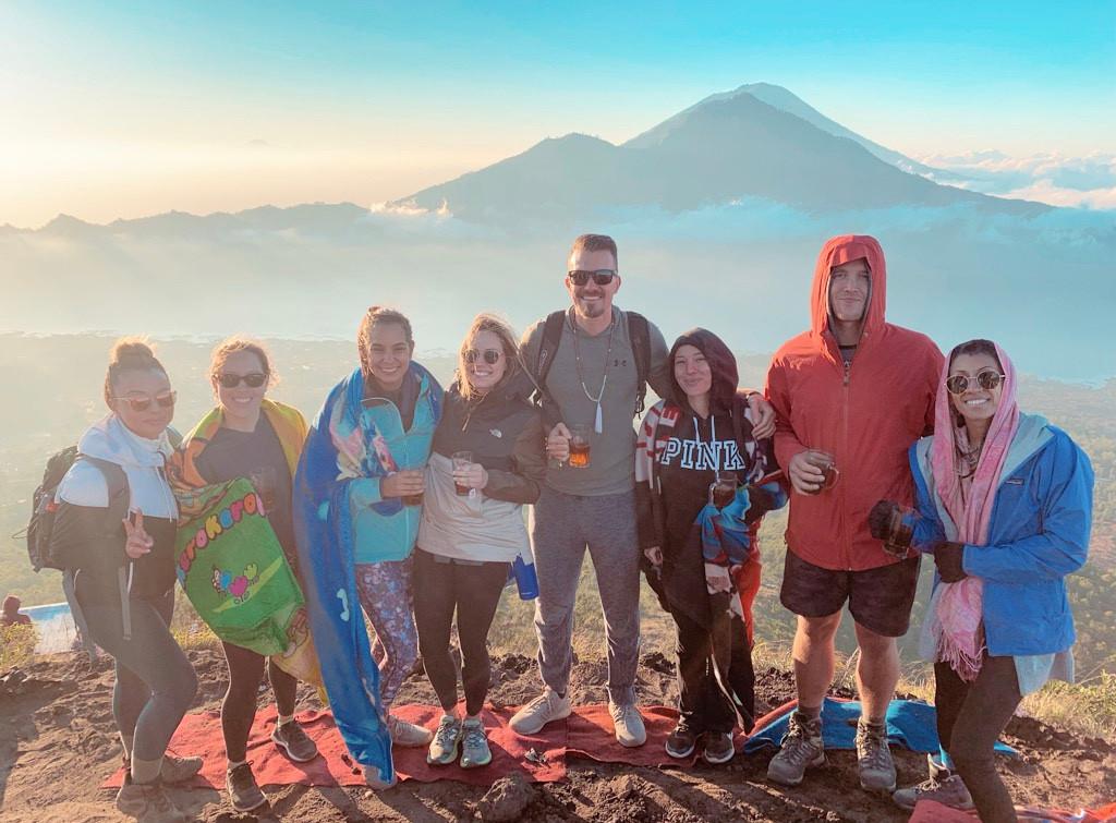 Top of Mt. Batur Volcano amazing people