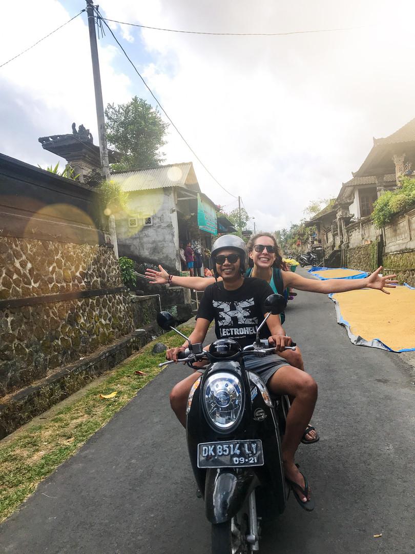 Motorbike rides are fun!