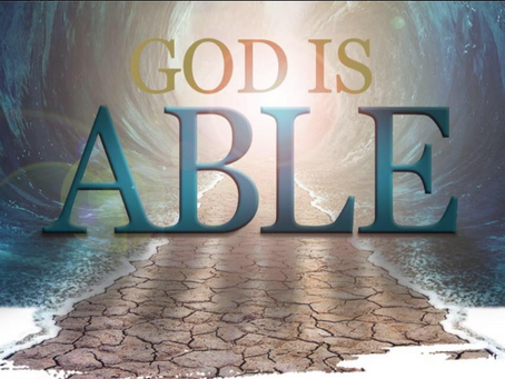 I say, I'm not able; The Word Says, I Am Able!
