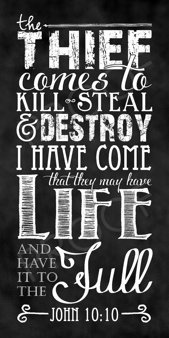 the thief comes to kill