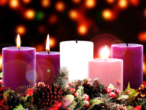 Joy candle, advent