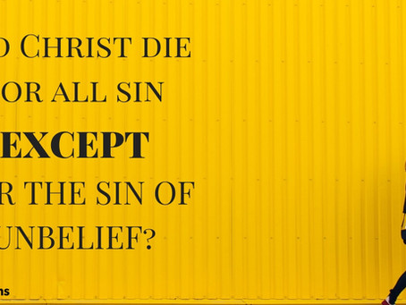 Unbelief Leads to Death