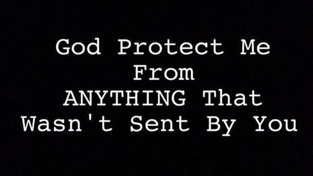 God protects me