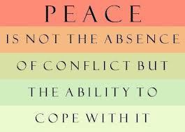 peace is not the absence