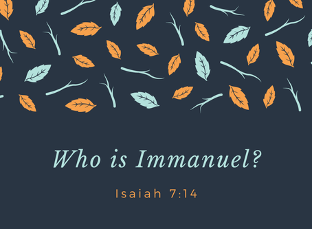 The Son, Immanuel