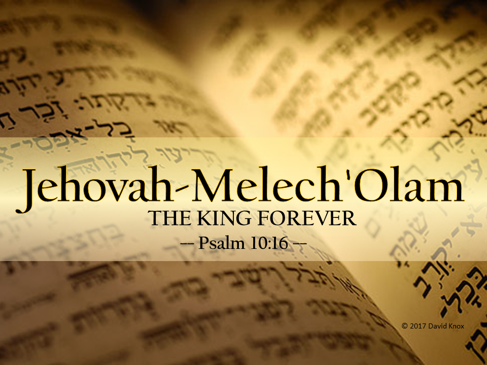 Jehovah-Melech 'Olam