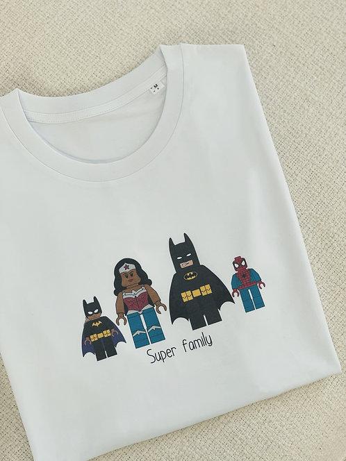 "Tshirt enfant ""Lego"" super héros personnalisable unisexe (+Options)"