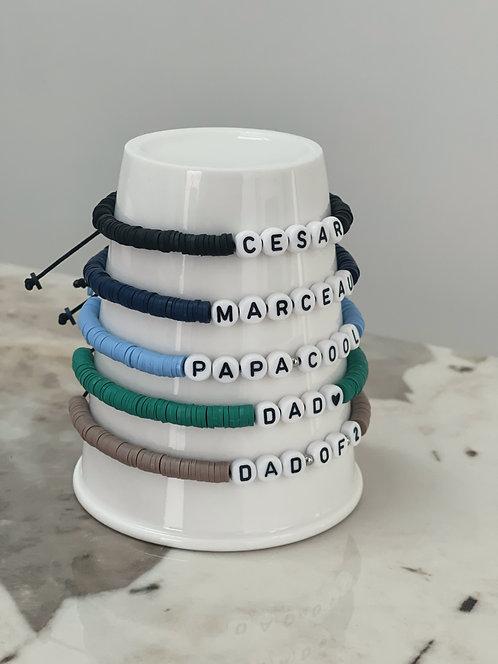Bracelet personnalisable Little Co fête des pères