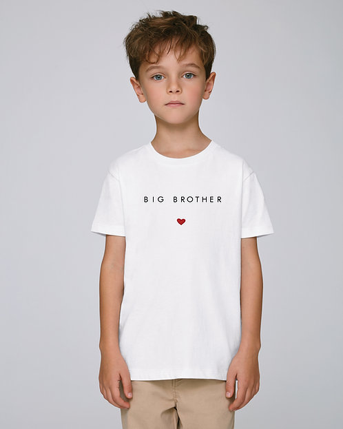 T-shirt Enfant coeur droit (+options)
