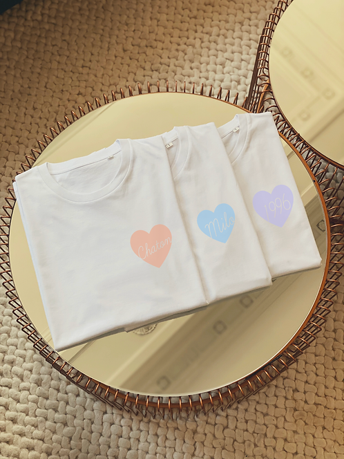 Tshirt Big love pastel (+ options)