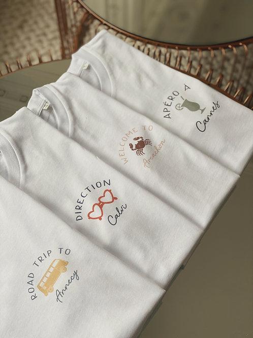 T-shirt Vacances  enfant personnalisable