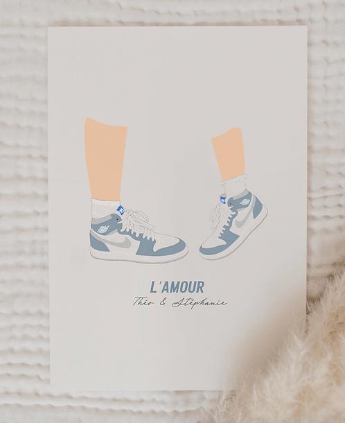 "Affiche ""Baskets"" (+ Options)"