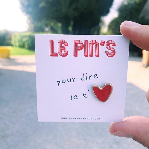 Pin's coeur chéri