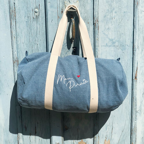 Sac week end en denim personnalisable