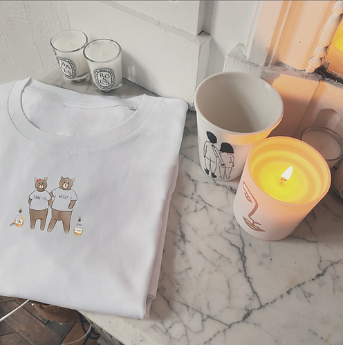 T-shirt Famille Ours unisexe (+ Options)