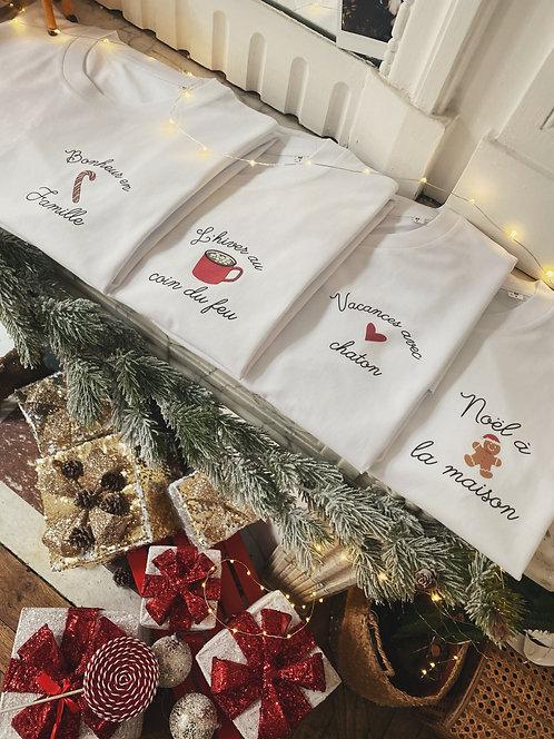 T-shirt Vacances d'hiver unisexe personnalisable