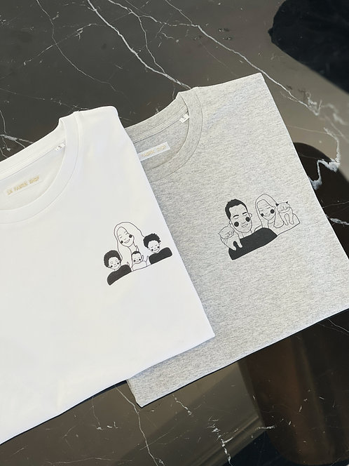 T-shirt Caricature unisexe by Capucine Quemin (+ Options)