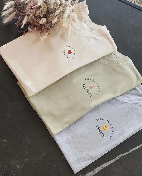 """Tshirt """"La demande"""" personnalisable unisexe (+ Couleurs)"""