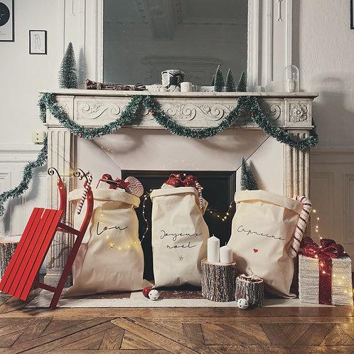 Sac à cadeaux personnalisable hiver 2019